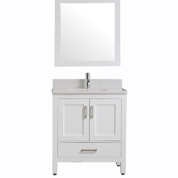 "Spitler 30"" Single Bathroom Vanity Set with Mirror by Ebern Designs"