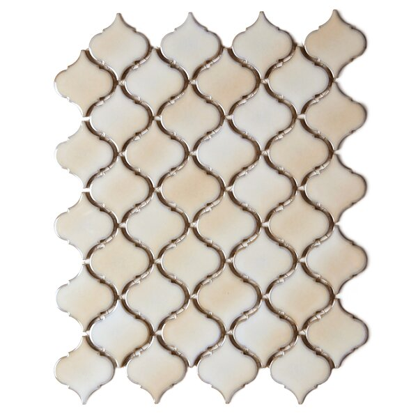 Tessen 2.2 x 2.5 Porcelain Mosaic Tile in Cafe Beige by Solistone