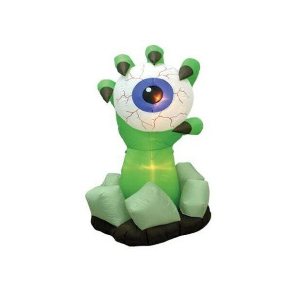 Halloween Inflatable Monster Hand with Eyeball Decoration by The Holiday Aisle