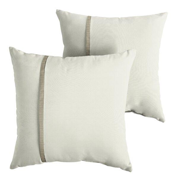 Foshee Indoor/Outdoor Sunbrella Throw Pillow (Set of 2) by Charlton Home