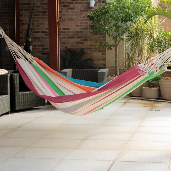 Ceará Cotton Double Tree Hammock by Novica