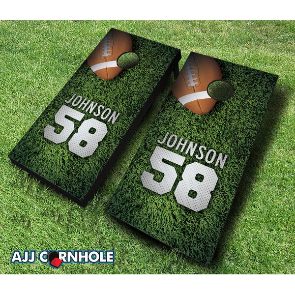 10 Piece Jersey Field Football Cornhole Set by AJJ Cornhole