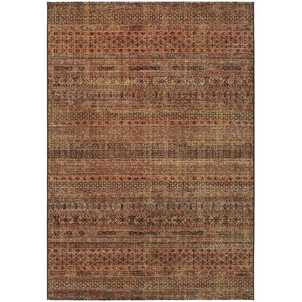 Char Ruby/Ivory Area Rug by Bloomsbury Market