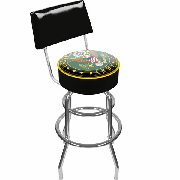 U.S. Army 31 Swivel Bar Stool by Trademark Global