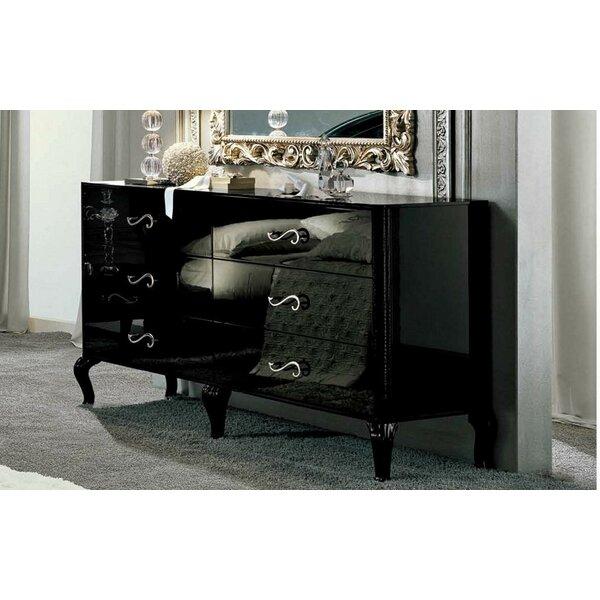 6 Drawer Double Dresser by Noci Design