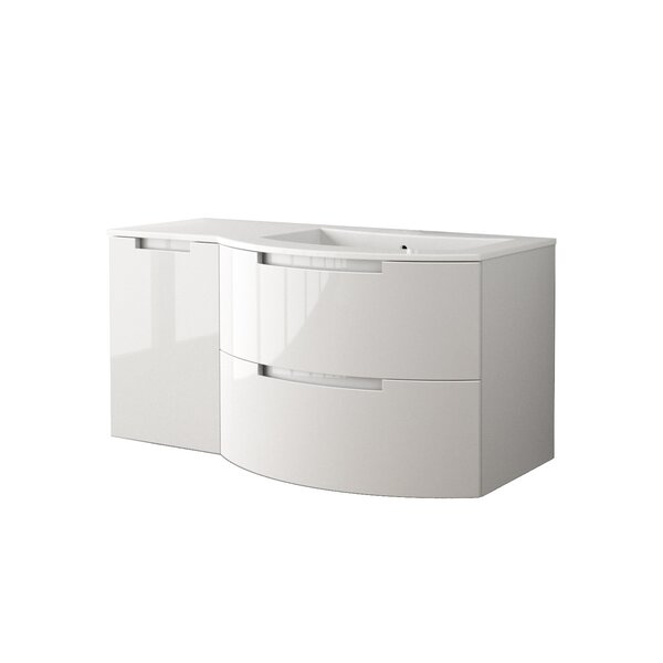 Oasi 43 Single Left Side Cabinet with Shelf Vanity by LaToscana