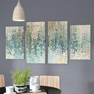 u0027Revealedu0027 Framed 4 Piece Set on Canvas & 4 Panel Art | Wayfair