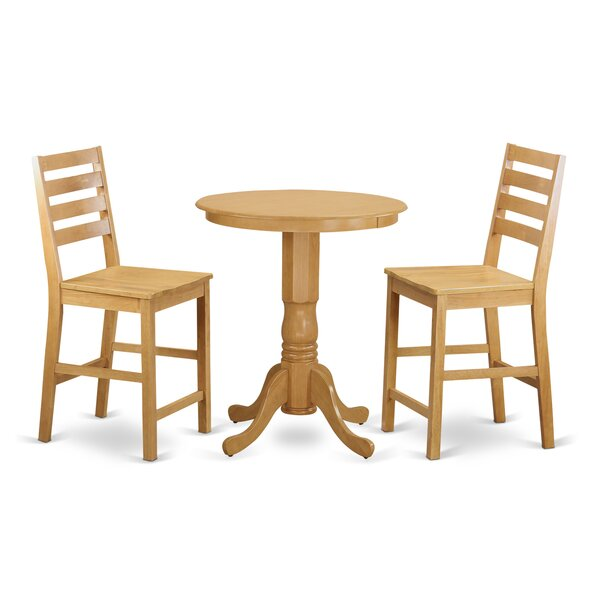 3 Piece Counter Height Pub Table Set by Wooden Importers Wooden Importers