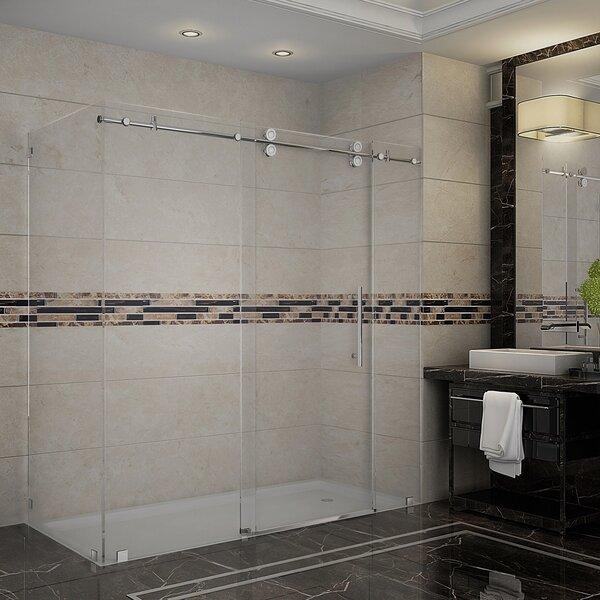 Langham 72 x 75 Single Sliding Frameless Shower Door by Aston