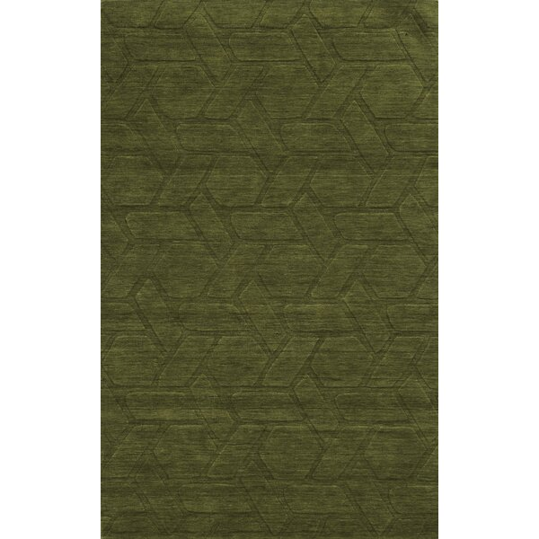 Trieste Hand-Loomed Green Area Rug by Meridian Rugmakers