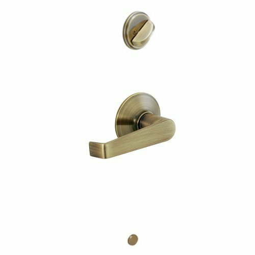 Interior Handleset Elan Lever and Interior Single Cylinder Deadbolt Thumbturn by Schlage