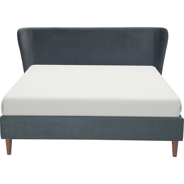Aleron Wing Upholstered Platform Bed by Elle Decor