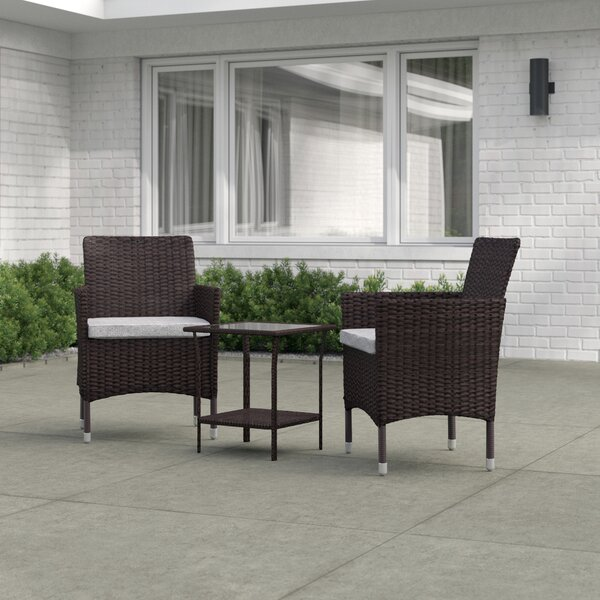 Willisville 3 Piece Seating Group with Cushions by Zipcode Design