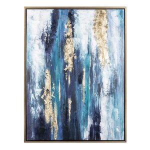 'Dinorah' Print on Canvas in Teal Blue by Mercer41