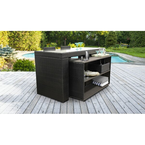 Tegan 5 Piece Bar Set by Sol 72 Outdoor