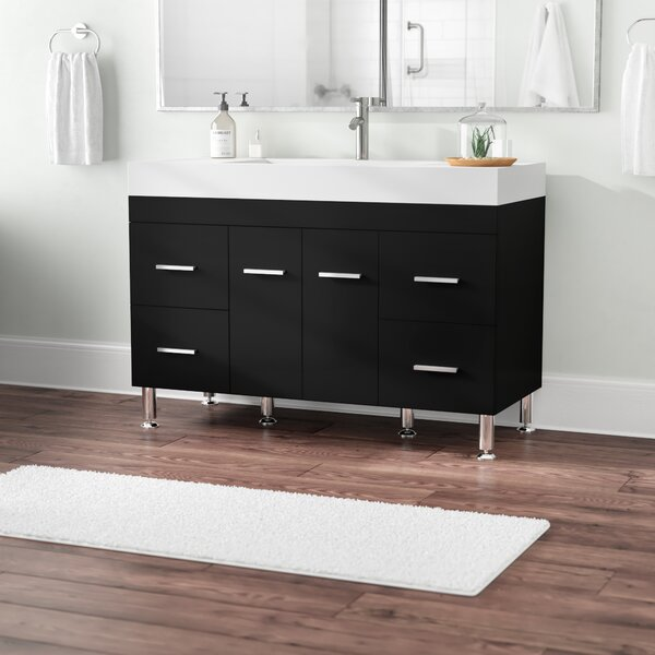 Truby 47 Single Modern Bathroom Vanity Set by Wade Logan