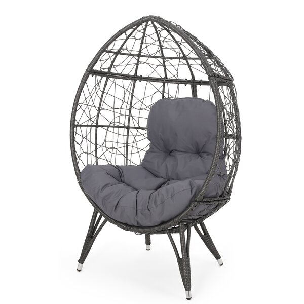 Mabel Wicker Teardrop Swing Chair by Bloomsbury Market Bloomsbury Market