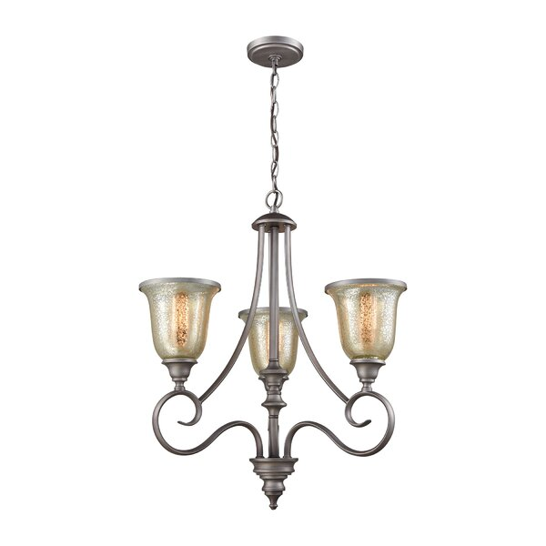 Waller 3-Light Shaded Classic / Traditional Chandelier By Fleur De Lis Living