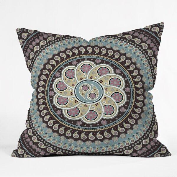 Mandala Paisley Throw Pillow by East Urban Home