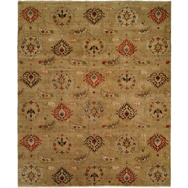 Sharjah Hand-Knotted Wool Gold Area Rug