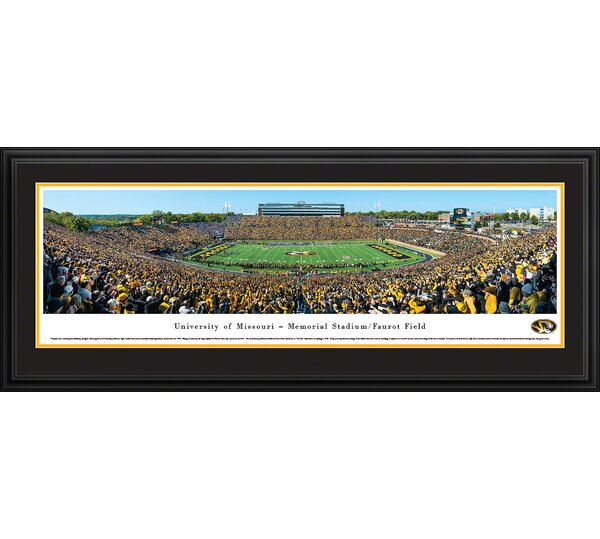 NCAA Missouri, University of - 50 Yard Line Day by James Blakeway Framed Photographic Print by Blakeway Worldwide Panoramas, Inc