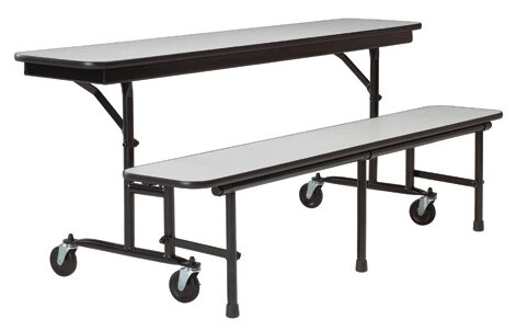 Uniframe Convertible Bench 96 x 22 Rectangular Cafeteria Table by KI Furniture