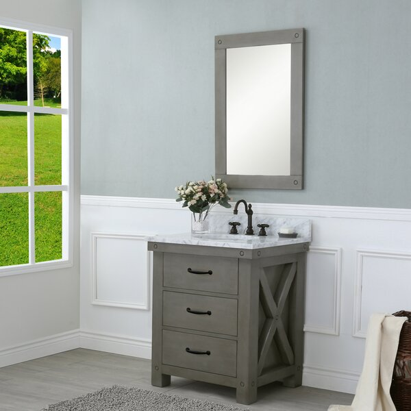 Cleora 30 Single Bathroom Vanity Set with Mirror by Williston Forge