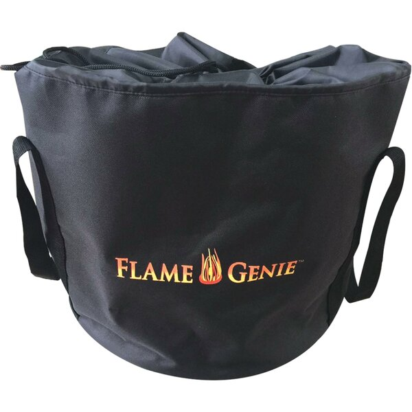 Steel Wood Pellet Burning Fire Pit Tote by Flame Genie