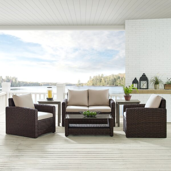 4 Piece Deep Seating Group with Cushions by Ivy Bronx