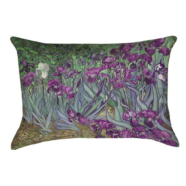 Morley 14 x 20 Irises in Pink Outdoor Pillows & Cushions UV Properties + Waterproof and Mildew Proof