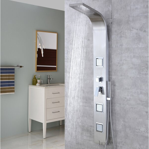 Diverter Dual Shower Head Shower Panel by Luxier