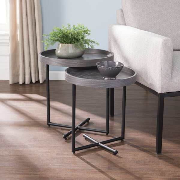 Twitchell 2 Piece Nesting Tables by Modern Rustic Interiors