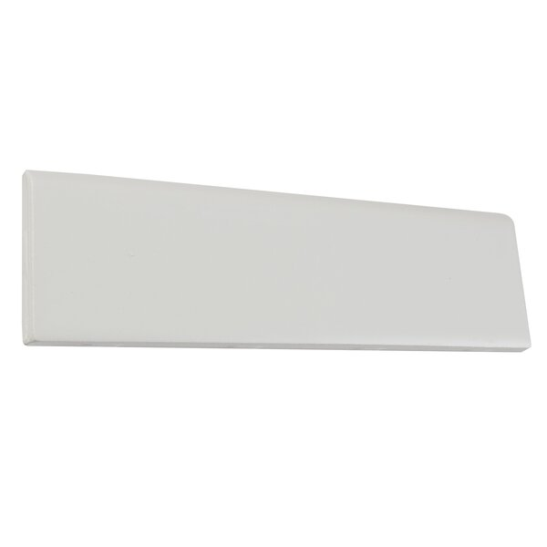 8.5 x 2.13 Ceramic Bullnose Tile Trim in Matte Bis