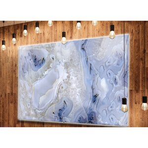 'Agate Stone Background' Graphic Art on Metal by Design Art