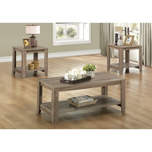 sc 1 st  Wayfair & Loon Peak Jalen 3 Piece Coffee Table Set u0026 Reviews | Wayfair
