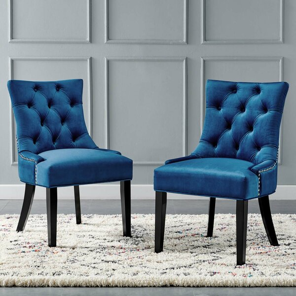 Burnett Tufted Velvet Upholstered Parsons Chair (Set Of 2) By Rosdorf Park