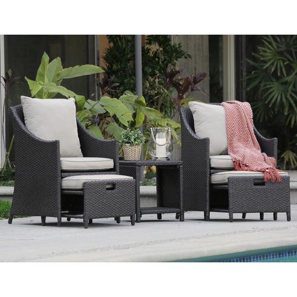 Laguna 5 Piece Conversation Set with Cushions by Serta at Home Serta at Home