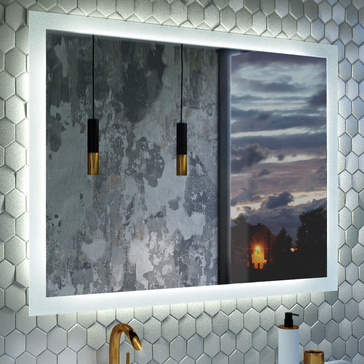 Orren Ellis Led Bluetooth Bathroomvanity Mirror Wayfair