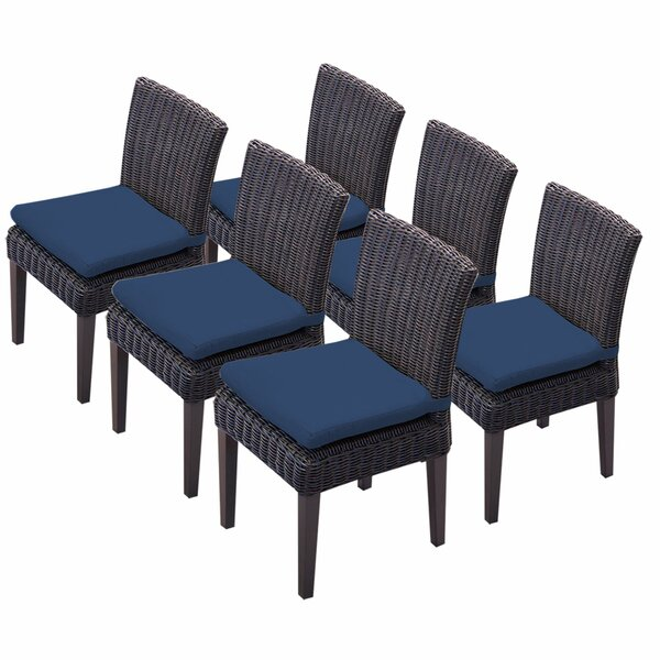 Mejia Patio Dining Chair With Cushion (Set Of 6) By Rosecliff Heights