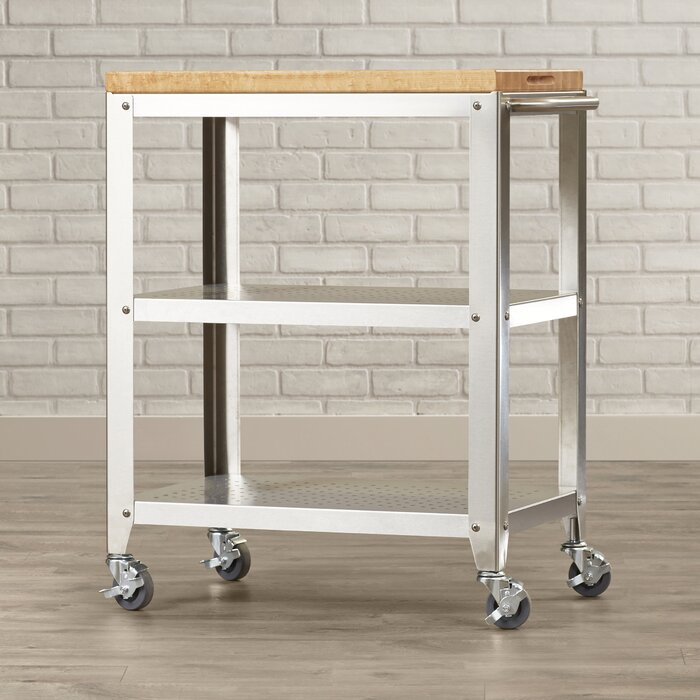 John Boos Cucina Americana Kitchen Cart with Butcher Block Top ...