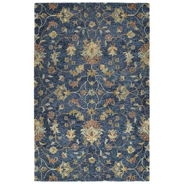 Toshiro Hand Tufted Wool Denim Area Rug by Bungalow Rose