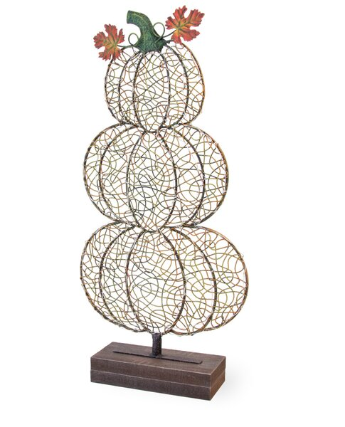 Metal Led Pumpkin Stack Lamp by The Holiday Aisle