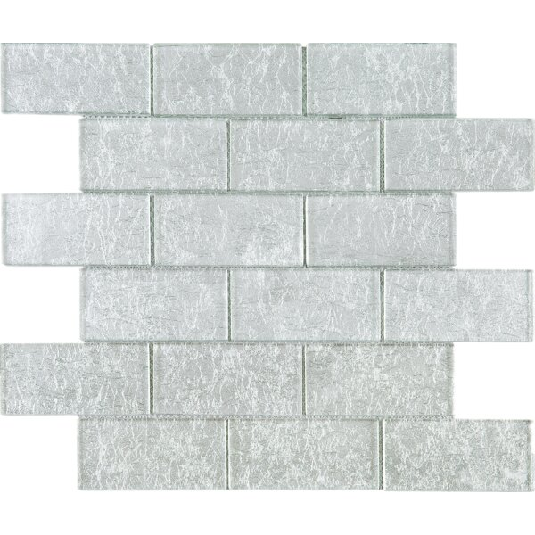 2 x 4 Glass Tile in Silver by Multile