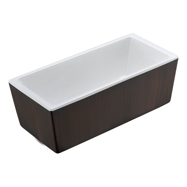 Rook Series 68.31'' x 30.91'' Freestanding Soaking Bathtub by ANZZI
