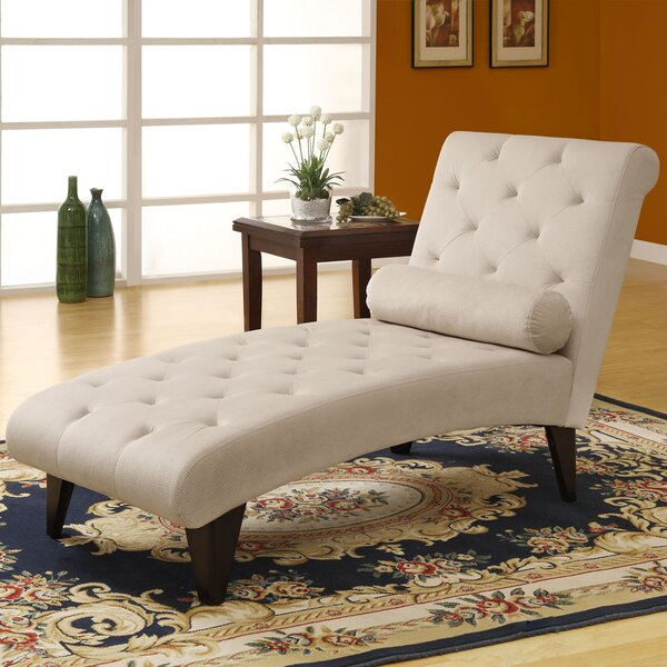 Velvet Chaise Lounge by Monarch Specialties Inc.