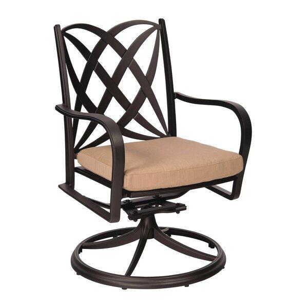 Apollo Swivel Patio Chair with Cushions by Woodard