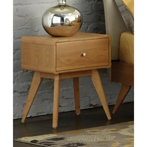 Eberhard Wooden 1 Drawer Nightstand by Corrigan Studio