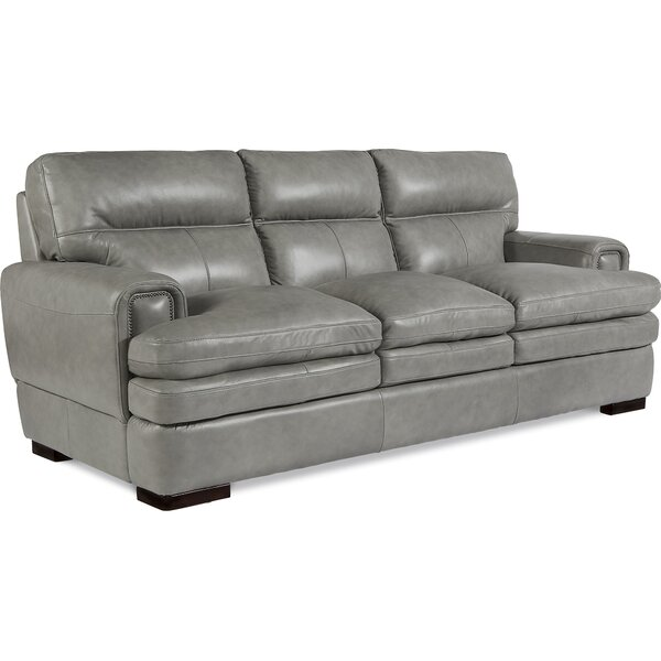 Cute Style Jake Leather Sofa by La-Z-Boy by La-Z-Boy