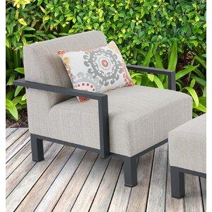 Imala Arm Chair with Cushions Ivy Bronx