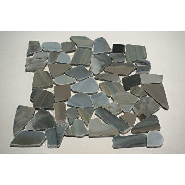 Cinderella Random Sized Marble Mosaic Tile in Blue/Gray by FuStone
